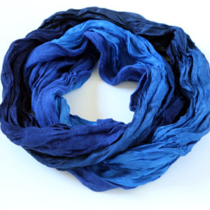 "Blue scarf ""Boheem"""