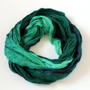 "Green scarf ""Boheem"""
